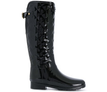 quilted knee-high boots