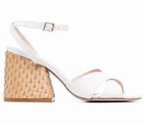 Sandalen mit gewebtem Absatz