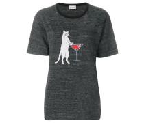 T-Shirt mit Katze-Print