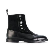 buttoned brogue detail boots