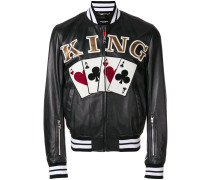 King playing cards bomber jacket