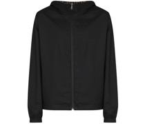 reversible logo print jacket