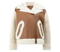 shearling cropped jacket