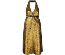 Metallisches Cloqué-Kleid mit