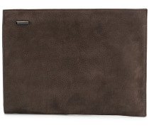 large zipped clutch bag