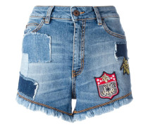 - Jeansshorts mit Patches - women