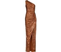 Kleid mit gerafften Schultern