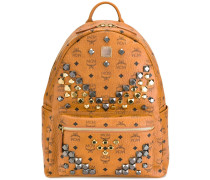 studded large backpack - unisex - PVC/metal