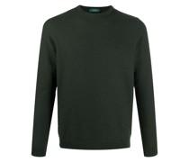 waffle-knit jumper