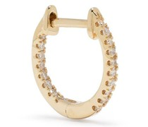 18kt yellow  diamond hoop earrings