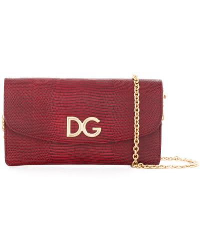 Dolce & Gabbana Damen Umhängetasche mit Logo-Schild Händler Online Billig Verkauf Suchen Preiswert Günstiger Preis Austritt Ansicht Outlet Kaufen uuK4kZzm