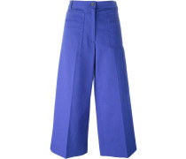 cropped flared trousers - women - Baumwolle - 48