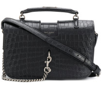 crocodile embossed Charlotte messenger bag