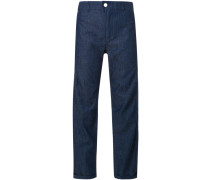 Cropped-Hose aus Chambray