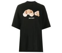 Oversized-T-Shirt mit Teddy-Print