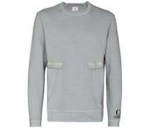 Sweatshirt mit Satinbesatz