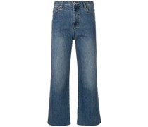 A.P.C. Gerade Cropped-Jeans