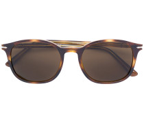 rounded tortoiseshell sunglasses