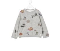 Sweatshirt mit Kritzel-Print