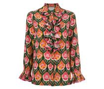 Bedruckte Bluse mit Rüschen