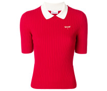 ribbed dragonfly polo top