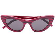 Cat-Eye-Sonnenbrille mit Tigerstreifen
