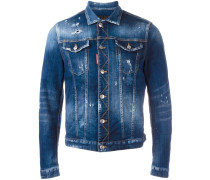 Jeansjacke in DistressedOptik
