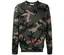 "Sweatshirt mit ""Camouflage Poetry""-Print"