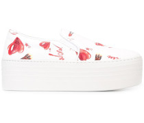 Flatform-Sneakers mit Print - women