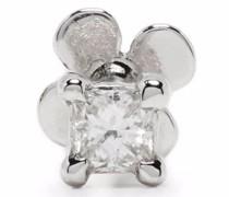 14kt Weißgoldohrring mit Diamanten
