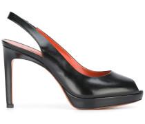 Peeptoe-Sandalen mit hohem Absatz