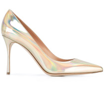 Stiletto-Pumps im Metallic-Look - women - Leder