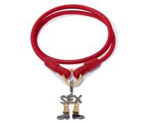 18kt Rotgoldarmband mit Diamantanhänger