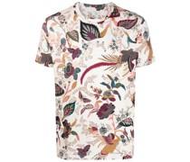 T-Shirt mit floralem Blumen-Print