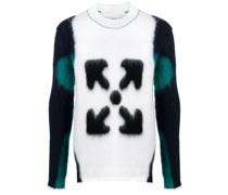 Intarsien-Pullover mit Pfeilen