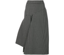 asymmetric checked skirt
