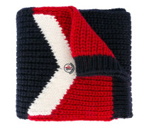 tri-colour knitted scarf