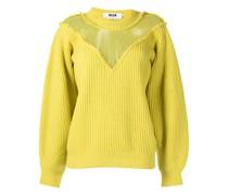 Pullover mit Organza-Einsatz