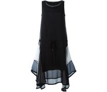 Ausgestelltes Kleid in semi-transparentem Design