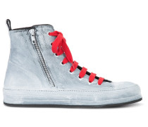 High-Top-Sneakers mit roter Schnürung - men