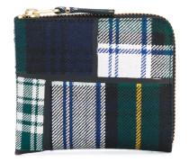 tartan wallet - unisex - Polyurethan/Wolle