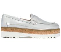 Loafer mit Metallic-Effekt - women