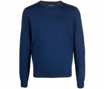 fine-knit embroidered-logo jumper