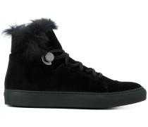 hi-top velvet sneakers