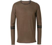 striped sleeves sweatshirt