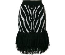 zebra printed skirt