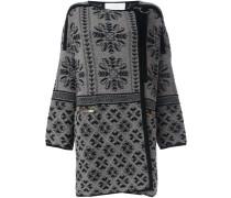 Jacquard-Mantel ohne Kragen