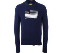 flag intarsia sweater