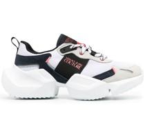 contrast-panel low-top sneakers
