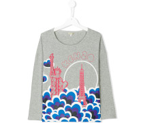 Teen Statue Of Liberty and Eiffel Tower print top